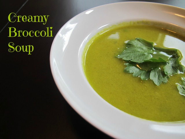 Creamy Broccoli Soup1A 6486