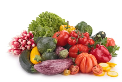 composition of vegetables - rainbow